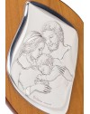 Nativity Silver Icon plaque on precious wood.