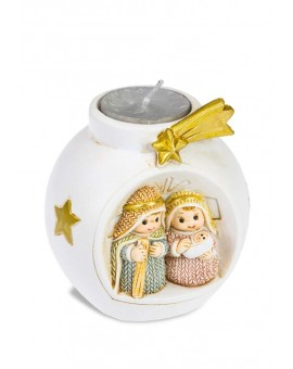 Children's Nativity with Candle Handpainted