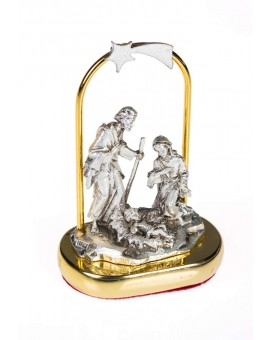 Small Nativity scene in metal
