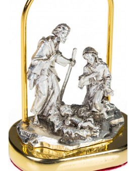 Small Nativity scene in metal