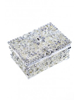 Metal and Strass Rosary Box