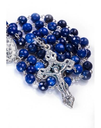 Faceted Lapislazuli Rosary