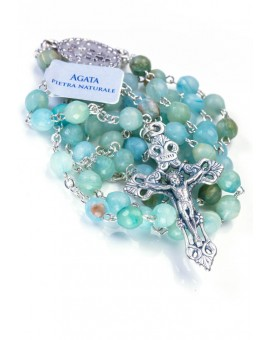 Green Water Agate Rosary