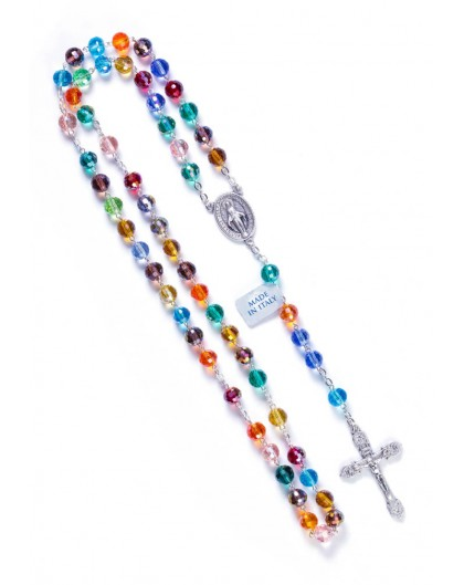 Rainbow Crystal Rosary - 8mm