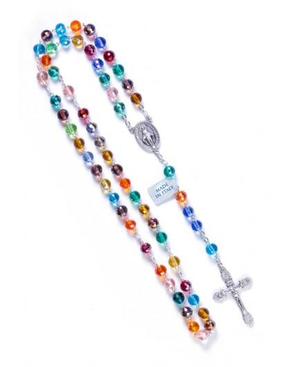 Rainbow Crystal Rosary - 8mm