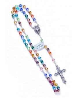 Rainbow Crystal Rosary - 6mm