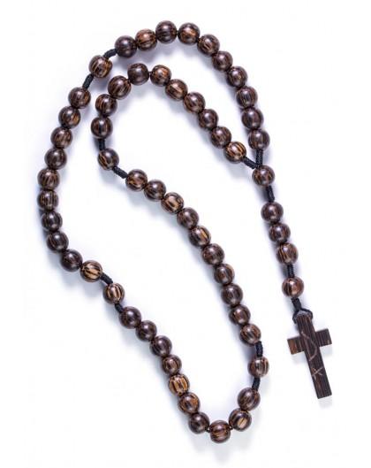 Coconut dark wood Rosary