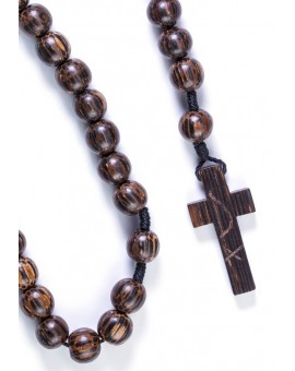 Coconut dark wood Rosary