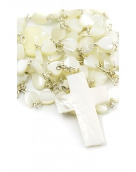Heart Mother of Pearl Rosary