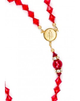 Absolute Red Swarovski - Gold Plated Center