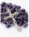 Violet Murano Glass Rosary