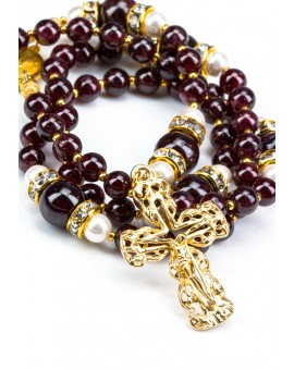 Deep Dark Garnet Red Rosary