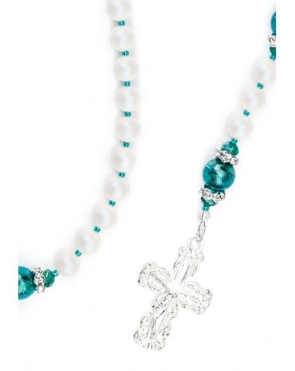 Swarovski Pearls, Emerald Green Murano beads
