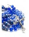 Shade of Blue Swarovski Crystals and Dark Blue Pearls Rosary