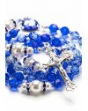 Shade of Blue Swarovski Crystals and Pearls Rosary