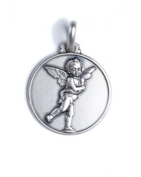 Playing Angel Sterling Silver Medal