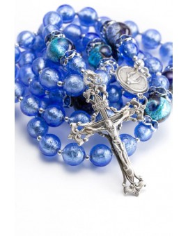 Cornflower Silver Blue Rosary