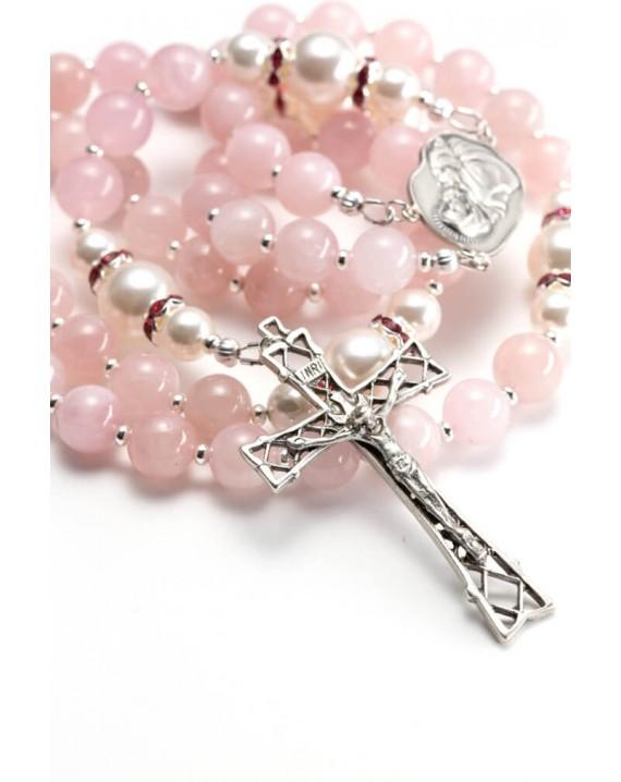 Sweet Rose Quartz Rosary