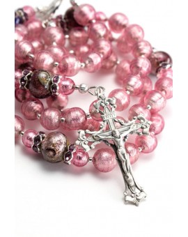 Haute Silver Pink Rosary