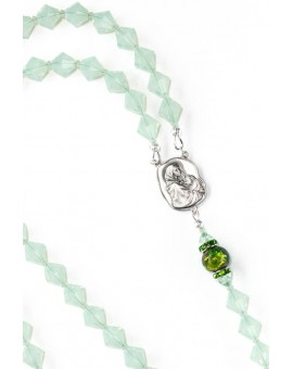 Chrysolite Opal Crystals Rosary