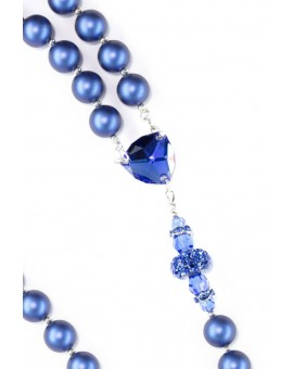 Majestic Pearlscent Blue Rosary