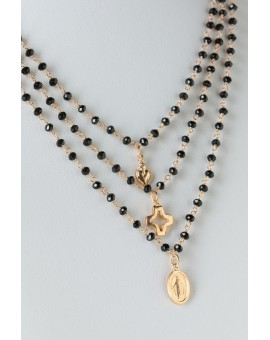 The Heart, the Cross and the Virgin Mary - Black
