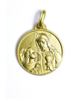 The Holy Communion gold plated medal