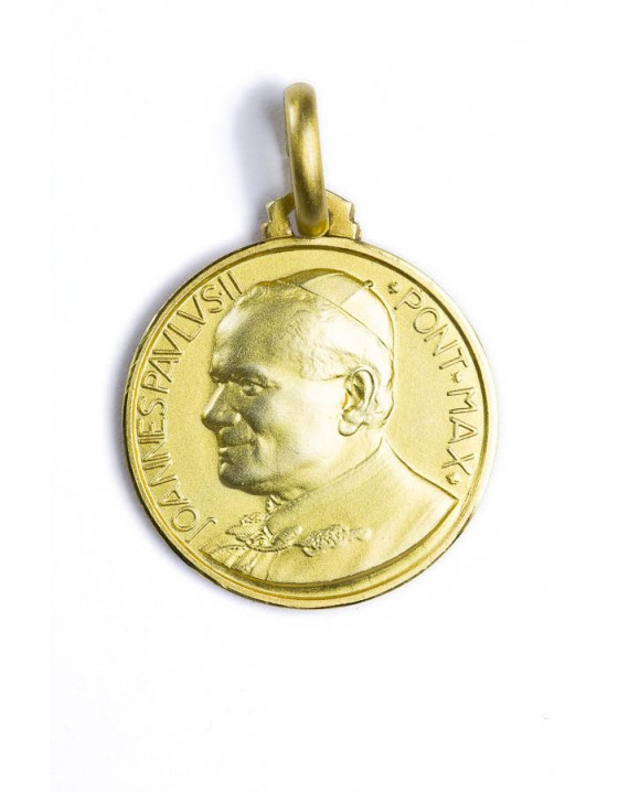 Pope John Paul II gold plated medal