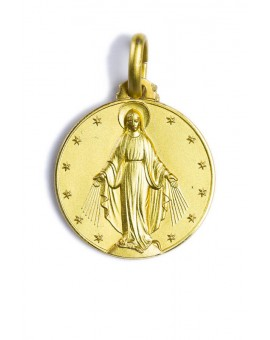 Miraculous Circle gold plated medal