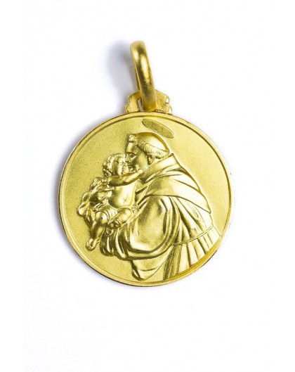 Saint Anthony from Padua gold plated medal