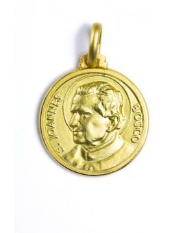 St. John Bosco gold plated medal