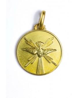 Holy Spirit gold plated medal