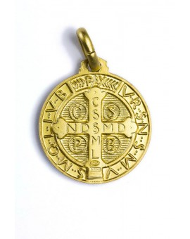 St. Benedict gold plated medal