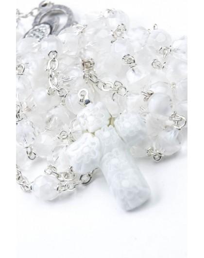 White Murrina Rosary