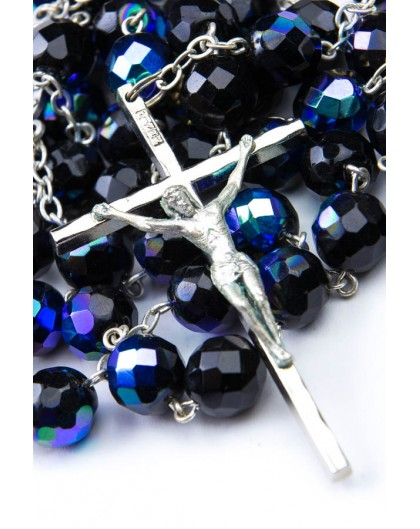 Black crystal big Rosary