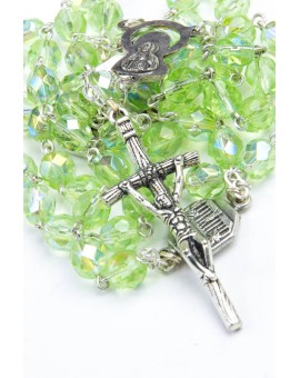 Four Basilica Light Green Rosary
