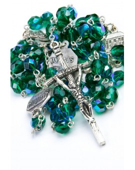 Four Basilicas Green Rosary small