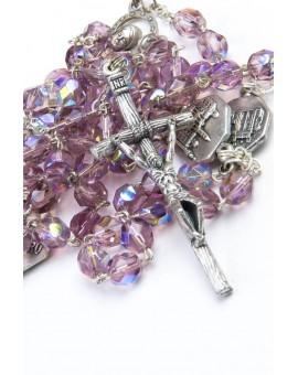 Four Basilicas Violet Rosary small