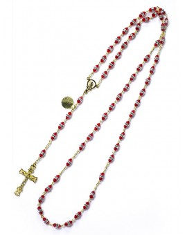 Red Swarovski Crystal beads Rosary