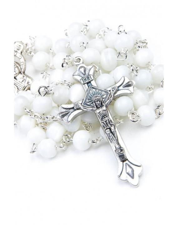 White Cat's Eye Rosary