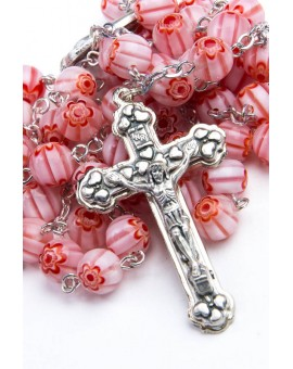 Murrina Pink Rosary