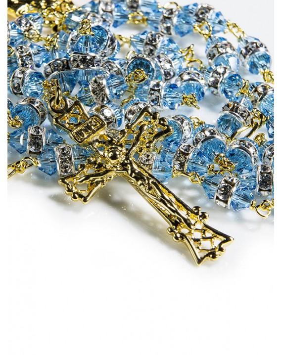 Light Blue Swarovski Crystal beads