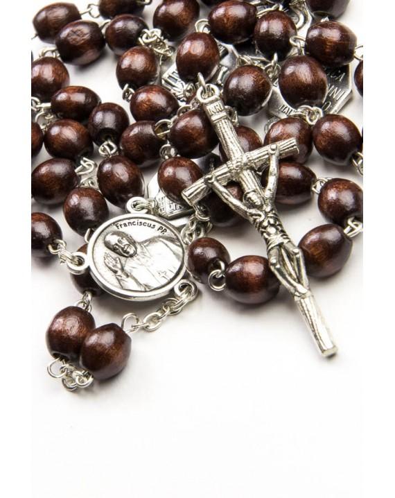 Wood Four Basilicas Rosary