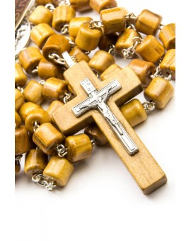 Cylindrical Wooden Beads Rosary