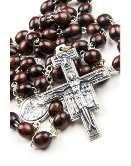 Pope Francis Rosary with St. Damian Crucifix