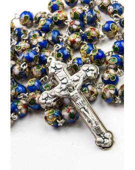 Blue Cloisonne Rosary