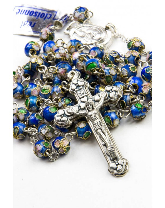 Blue Cloisonne small Rosary