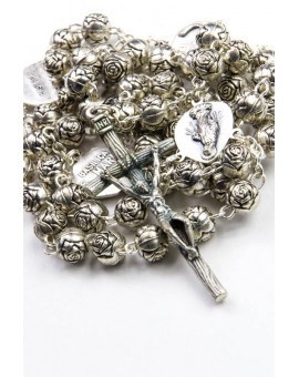 Metal Roses Four Basilicas small Rosary