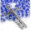 Blue and White Swarovski Crystal Rosary