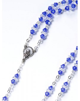 Blue and White Swarovski Crystal Rosary